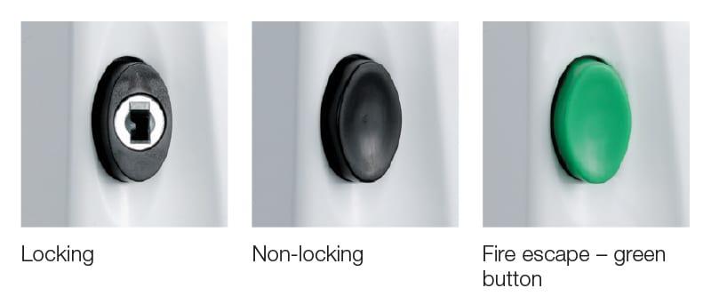 Titon  Right Hand Window Handle White 1 Key NOS