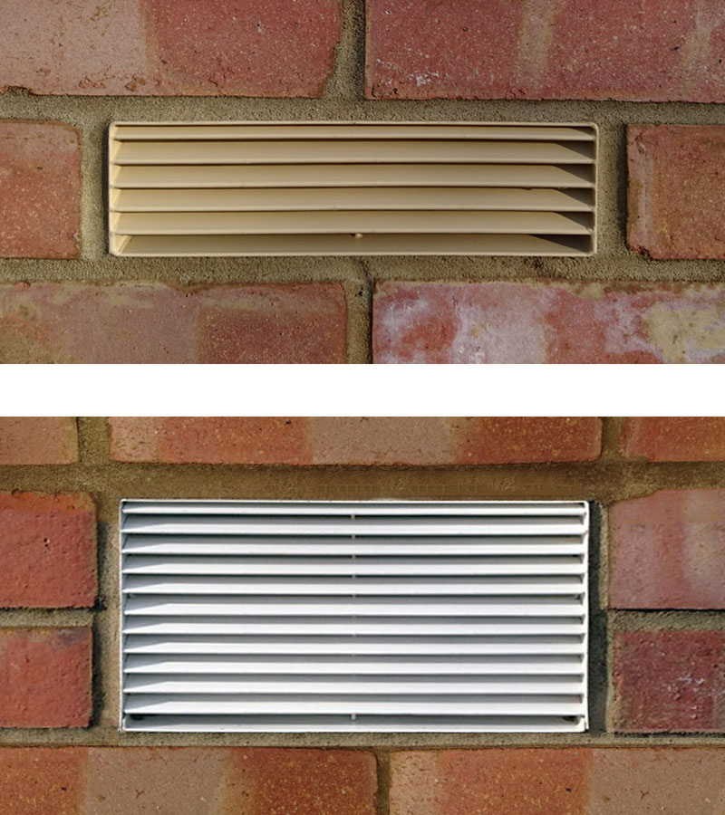 Titon FireSafe® Single Air Brick (top) and Titon FireSafe® Double Air Brick (bottom)